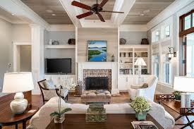 transitional style ceiling fans rana furniture palmetto transitional family room with cottage style