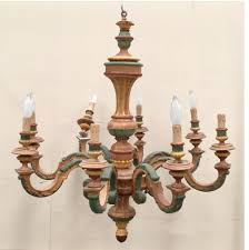 Painted Chandelier Antique Italian Carved Wood Painted Chandelier Inessa Stewart S