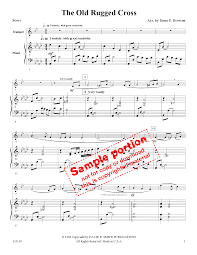 Old Rugged Cross The Old Rugged Cross Trumpet Solo With Pian J W Pepper Sheet Music