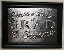graduation plaque embossed metal graduation plaque class of 2017 plaque embossed