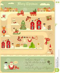 Christmas Map Christmas Characters On City Map Stock Vector Image 79003755