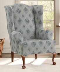 sure fit slipcovers wing chair look what i found on zulily blue stretch vintage floral wing chair