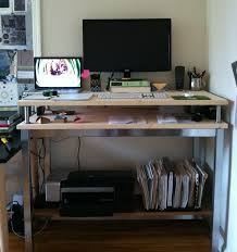 Ikea Desk Stand Ikea Standing Desk Hacks With Ergonomic Appeal
