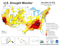 california drought map january 2016 drought november 2016 state of the climate national centers