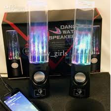 light up portable speaker led water speaker colorful touch sensor led table l light for