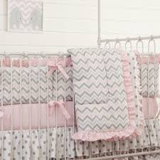 Pink And Grey Comforter Set Pink And Gray Chevron Crib Bedding Carousel Designs