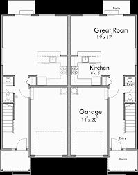 Floor Plans For Duplex Houses Duplex House Plan Row House Plan Open Floor Plan D 605