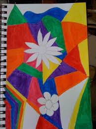 cubism flower painting cubism flower myfloweraday s