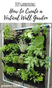 Diy Vertical Wall Garden Diy Gardening How To Create A Vertical Wall Garden Greener Ideal