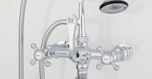 Clawfoot Tub Faucet With Diverter Shower Stunning Shower Faucet With Diverter Bathroom Brass