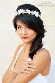 bijoux tete mariage couronne de fleurs naturelles ou couronne de mariée bijoux