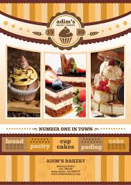 flyer menu template bakery brochure template inspirational bakery menu template bakery