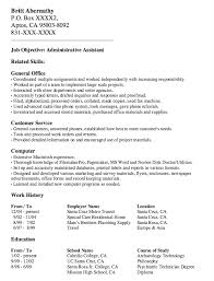 Administrative Assistant Resume Examples by Administrative Assistant Resume Example Resumedoc