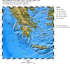Greece On Map by Mw 6 2 Earthquake Leonidio Greece On January 6th 2008 At 05 14 Utc