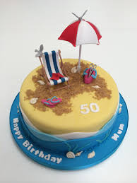 beach theme cakes beach chair and umbrella cake kit free