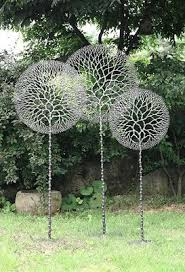 best 25 garden sculptures ideas on the grass metal