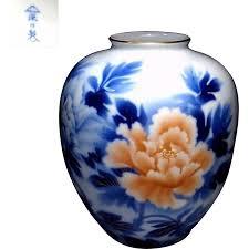 Porcelain Flower Vases Japanese Vintage Arita 深川 Fukagawa Porcelain Floral Vase From