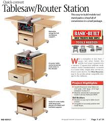 31 dp 00931 quick convert tablesaw router station woodworking