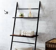 over the toilet etagere rustic over the toilet etagere pottery barn