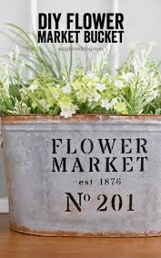Galvanized Decor Diy Metal Flower Market Bucket A Night Owl Blog