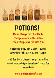 potions an intro chemistry class for younger kids u2013 parts and crafts