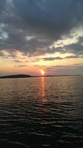 beautiful night sailing on lake superior