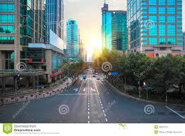 Modern City Modern City Street Scene In Morning Stock Photography Image