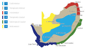 africa map climate zones regulations isoboard thermal insulation south africa