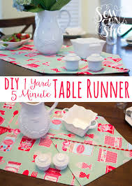 make your own table runner diy 1 yard 5 minute table runner tutorial sewcanshe free sewing