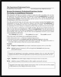 accomplishment statements for resume templates csat co