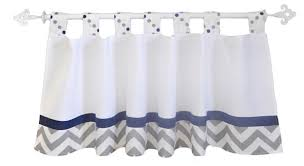 Nursery Valance Curtains White Valance Curtain White Valance Curtains Navy And Gray