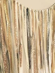 wedding backdrop gold gold silver chagne gold sequin lace ribbon sparkle
