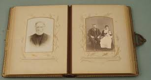 antique photo album antique family photo album cabinet card portraits