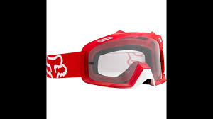 fox air space mx goggle fox air space goggles review youtube