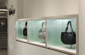 Show Cabinets Built In Wall Display Case An Oiloak Finish Wall Cabinet With