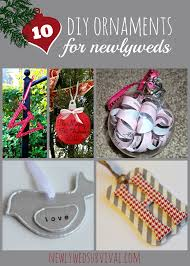 diy ornaments for the newlywed tree newlywed survival