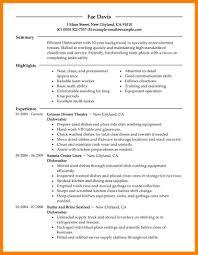 sample resume for daycare worker dishwasher sample resume dishwasher resume sample cook examples