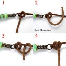 leather necklace knot images Rustic leather bead necklace tutorial half hitch knot jpg