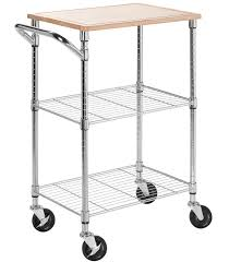 Kitchen Island Microwave Cart Kitchen Island Carts And Microwave Carts Organize It