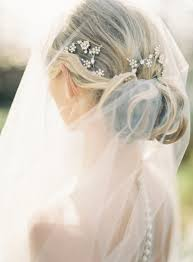 wedding hair veil wedding hairstyles with drop veil once wed