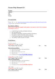 Bullet Points In Resume Cruise Ship Steward Cv Resume Template Vinodomia