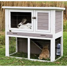 Large Rabbit Hutch With Run Pawhut 40 In Wooden Rabbit Hutch Small Animal House Pet Cage