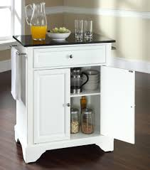 perfect kitchen island cart granite top with white cupboard black