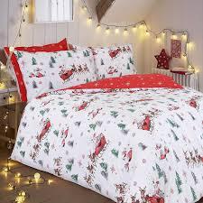 Double Duvet Set Pieridae Luxury Santa Sleigh Double Duvet Cover Quilt Cover