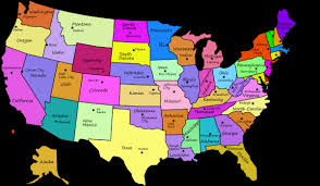 map showing states and capitals of usa us map of states with capitals usa and for angelr me