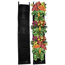 Wall Planters Indoor by Amazon Com Garden Vertical Planter Multi Pocket Wall Mount