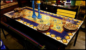 Patio Table Top Replacement by Patio Furniture Mosaic Patio Table Sets Blue Tablesmosaic Tables