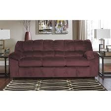 ashley furniture julson fabric sofa in burgundy 2660238