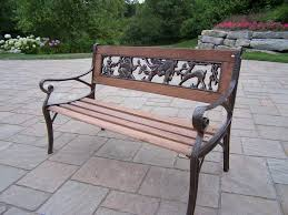 Iron Patio Dining Set Benches Cast Iron Outdoor Bench Wrought Iron Patio Dining Table