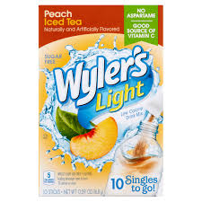 wyler s light singles to go nutritional information wyler s light peach iced tea low calorie drink mix 10 count 0 59